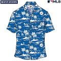 アロハシャツ|レインスプーナー(REYNSPOONER)|B2815-125-19|MLB2020メジャーリーグ公式(VINTAGEMLB)|メジャーリーグベースボールロサンゼルスドジャース(LOSANGELESDODGERS)|レーヨン100%|ノーマル襟|半袖|アロハタワー(アロハシャツ販売)