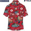 アロハシャツ|レインスプーナー(REYNSPOONER)|B2811-121-19|MLB2020メジャーリーグ公式(MLBSCENIC)|メジャーリーグベースボールボストンレッドソックス(BOSTONREDSOX)|コットン100%|ノーマル襟|半袖|アロハタワー(アロハシャツ販売)