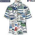 アロハシャツ|レインスプーナー(REYNSPOONER)|B2812-121-19|MLB2020メジャーリーグ公式(MLBSCENIC)|メジャーリーグベースボールニューヨークヤンキース(NEWYORKYANKEES)|コットン100%|ノーマル襟|半袖|アロハタワー(アロハシャツ販売