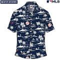 アロハシャツ|レインスプーナー(REYNSPOONER)|B2814-125-19|MLB2020メジャーリーグ公式(VINTAGEMLB)|メジャーリーグベースボールニューヨークヤンキース(NEWYORKYANKEES)|レーヨン100%|ノーマル襟|半袖|アロハタワー(アロハシャツ販売)