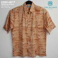 アロハシャツ・トリリチャード(TORIRICHARD)|tori-6817TROPICALETCH(トロピカル・エッチ)|オレンジ|コットン・ローン100%(CottonLawn100%)|ノーマル襟(レギュラーカラー)|フルオープン|半袖|AlohaShirt