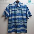 アロハシャツ|トリリチャード(TORIRICHARD)|tori-6966SHOREBREAK(ショアブレイク)|ブルー|メンズ|コットン・ローン100%(CottonLawn100%)|ノーマル襟(レギュラーカラー)|フルオープン|半袖|アロハタワー(アロハシャツ販売)