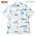 アロハシャツ|ステュディオ・ダ・ルチザン(STUDIOD'ARTISAN)|豚アロハSD-SP03640thインディゴアロハシャツ|インディゴアイボリー|コットン100%(Cotton100%)|開襟(オープンカラー)|フルオープン|半袖|アロハタワー(アロハシャツ販売)