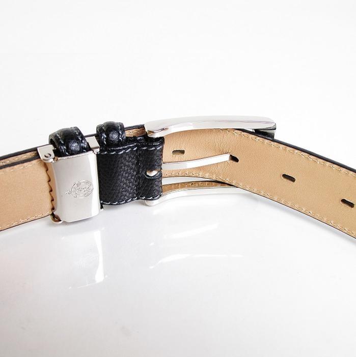 スコッチ ダブルループ ビジネスベルト メンズベルト 日本製 ギフト キャメルブラウン キース KIETH KE21340 メンズ 角シボ レザーベルト 本革 キャメル