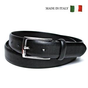 イタリア製 本革 ベルト メンズ ブラック 黒 30mm幅 ノーステッチ ビジョウタイプ メンズベルト フリーサイズ 調整可 GAPO 20048