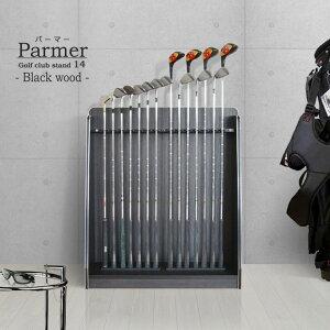 Présentoir de club de golf Palmer 14 type de rangement Bois noir