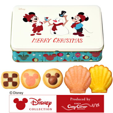 銀座コージーコーナー <ディズニー>クリスマス缶(5種12個入) 洋菓子 焼き菓子 詰め合わせ おやつ 手土産 贈答 お菓子