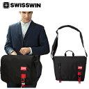 SWISSWIN スイスウィン ショルダーバッグ 軽量 12L メンズ 斜めがけバッグ メッセージバッグ 鞄 アウトドア PCバッグ おしゃれ 通勤 防水 通学 シンプル ななめ掛け swisswin ブラック SWE3011