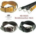(ホワイトハウスコックス) Whitehouse Cox #B-8665 BridleLeather Belt ブライドルレザーベルト 牛革 Dress Belt 幅28mm 英国製 真鍮製バックル ニッケルコーティング(送料無料/男女兼用/ビジネス/カジュアル/本革/ギフト/ブラウン/ブラック/取り寄せ可) (P-10)