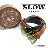 【再入荷】 (スロウ) SLOW #HS23E Narrow Plain Belt -tochigi leather-(ナロープレーンベルト/栃木レザー/牛革/カウレザー/フルベジタブルタンニン/オンオフ/3cm幅/男女兼用/日本製/XS/S/M/プレゼント/送料無料) 【ギフト対応可】