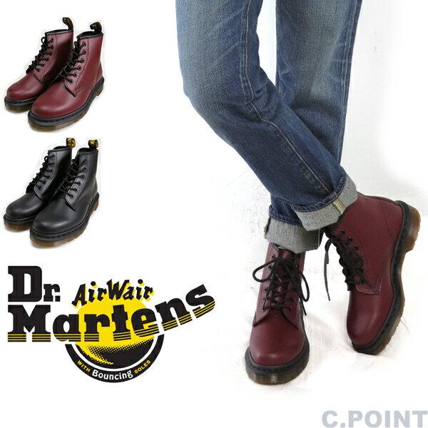 (ドクターマーチン) Dr.Martens #CORE101 6-EYE-BOOT Lady's #6ホールブーツ ブラックステッチ 編み上げブーツ スムースレザー バウンシングソール ≪送料無料≫ (レディース/ミドルカット/エアーソール/パンク/シック/ブラック/チェリーレッド)画像