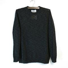 James Charlotte Linen Cotton Crewneck Sweater: Black