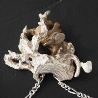 DECOvienya(デコヴィーニャ)手作りアクセサリー野ウサギのイヤリングシルバー片耳[DE-118]