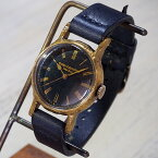 Gothic Laboratory(ゴシックラボラトリー) 手作り腕時計 深海 Mサイズ [GL-CW-sk-M] A STORY・柳井幸平さんのハンドメイドウォッチ・ハンドメイド腕時計ブランド メンズ・レディース ダークブルー 革ベルト 真鍮 アンティーク調 クラシカル クオーツ 日本製 国産