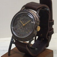 """JOIEINFINIEDESIGN(ジョイアンフィニィデザイン)手作り腕時計""""COGWHEEL-コグホイール-""""イタリアンレザーベルト[D-8050]"""