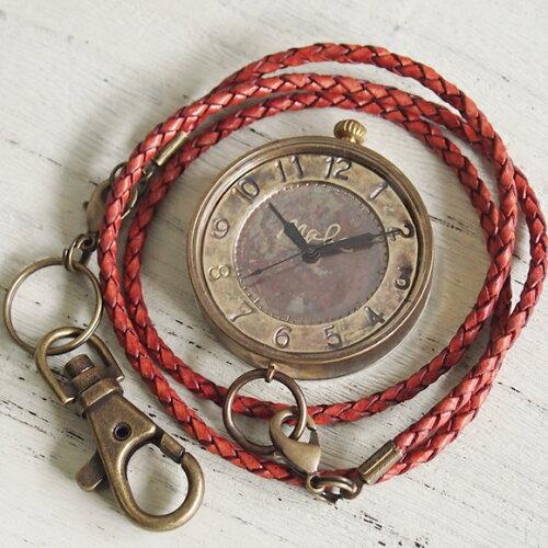 """渡辺工房 手作り懐中時計""""S-WATCH−MEGA懐中""""ジャンボブラス [NW-JUM121] 時計作家・渡辺正明さ..."""