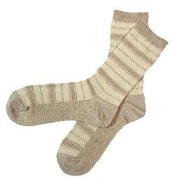 【4色から選べます!】ORGANIC GARDEN(オーガニックガーデン) リネン・コットン ジャガードボーダーソックス [NS8160] 靴下の街・奈良県広陵町 ヤマヤさんのオーガニックコットンの靴下・ソックスブランド 肌に優しい 日本製 国産