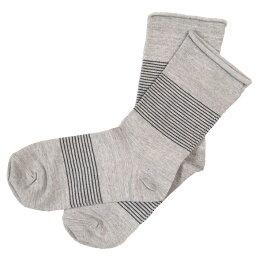 【3色から選べます!】ORGANIC GARDEN(オーガニックガーデン) ゴムなしソックス ハイゲージ ライン レディース [NS8206] 靴下の街・奈良県広陵町 ヤマヤさんのオーガニックコットンの靴下・ソックスブランド 肌に優しい 日本製 国産