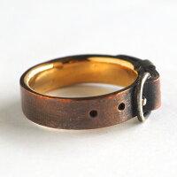 smallright(スモールライト)ベルトリング銅×ゴールド真鍮5mm幅[SR-RG-02]