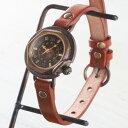 """【文字盤の木製パーツが選べます】vie(ヴィー) 手作り腕時計 """"antique wood -アンティークウッド-"""" Sサイズ(レディース) [WB-007S] ハンドメイドウォッチ・ハンドメイド腕時計 アンティーク調 アナログ 本革ベルト シンプル 滋賀 大津 木目 日本製 国産"""