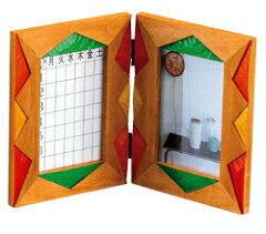 お気に入りの写真を飾ろう!時間割表のついたフォトフレーム120×155(mm)ダブルピクチャー A『...