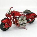 ブリキ製 ヴィンテージバイク「オールドバイク RD/BK」L20cm ブリキ おもちゃ ブリキバイク アンティーク レトロ バイク ハーレータイプ アメリカン 雑貨 インテリア ブリキのおもちゃ