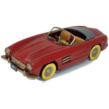 ブリキ製 ヴィンテージカー「MBZ-SL RED(ベンツSLtype)」L25cm ブリキ おもちゃ アンティーク レトロ 車 アメリカン 雑貨 インテリア ブリキのおもちゃ