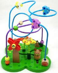 名入れ無料。部品が取り外せないので、小さな子供でも飲み込むことなく安全な木のおもちゃルー...