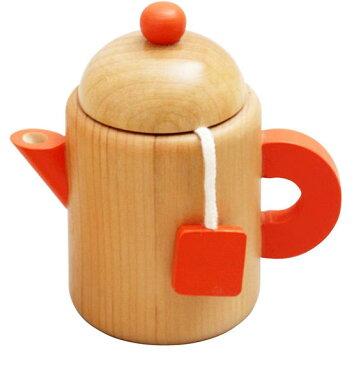 ティーポット ままごと 木のおもちゃ 木製 おままごと 道具 食器 エドインター おもちゃ 誕生日 プレゼント 男の子 女の子 子供