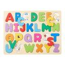 知育玩具 3歳「木のパズル A・B・C」木のおもちゃ 英語 アルファベット 木製玩具 エドインター 男の子 女の子 子供 幼児
