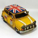 ブリキ製 ヴィンテージカー「ミニtype(イエロー)」L23cm mini ブリキ おもちゃ アンティーク レトロ 車 ブリティッシュ 雑貨 インテリア ブリキのおもちゃ