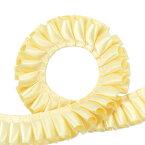 両面サテン ダブルサテン プリーツリボン 2.5cm幅 バターミルク 3m