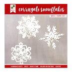 [SUPER PRICE] DCWV ペーパープロジェクト [コラゲート スノーフレーク] / Paper Project Christmas Corrugate Snowflakes