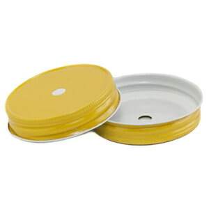 YellowRegularMouthCompleteLidWith9mmHoleレギュラーマウス用蓋9mm穴付き黄色1個