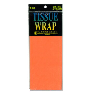 Papier de soie 薄葉紙・包装紙 [ブライトオレンジ] 50.8x50.8cm 10枚 Cindus Tissue Paper Bright Orange 20