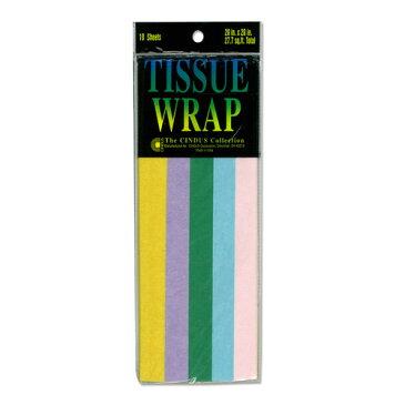 Papier de soie 薄葉紙・包装紙 [パステルミックス] 50.8x50.8cm 10枚 Cindus Tissue Paper Pastel Mix 20