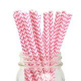 ペーパーストロー 紙ストロー ストロベリー シェブロン 25本入 Paper Straws Chevron Strawberry 25pcs