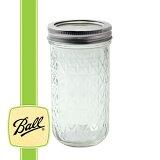 ボールメイソンジャー クリスタル ジェリージャー レギュラーマウス 355ml / Ball Mason Jar Quilted Crystal Jelly Jar Regular Mouth 12oz