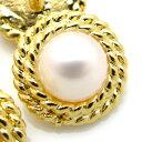 【訳あり】真珠にチェーンを巻いたようなデザインの金属ボタン 釦(GP-5941) CPB-081 13mm