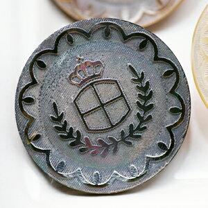 本物の貝にレーザー彫刻した裏穴ボタンP−81218mm