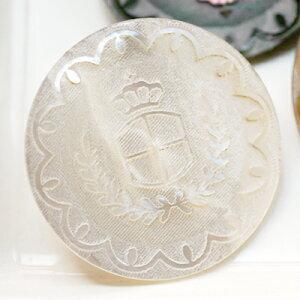 本物の貝にレーザー彫刻した裏穴ボタンP−81223mm