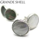 VALUE3500 【選べる2色】 GRANDE SHELL CUFLINKS グランデ シェル カフス 【カフスボタン カフリンクス】【送料無料】【白蝶貝 黒蝶貝】