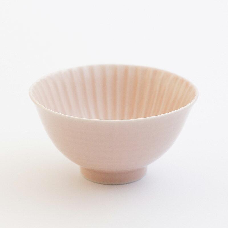 【波佐見焼】【食器】【ピンク】【茶碗】『しのぎ茶碗 小』ボール飯碗 北欧ギフト 陶器 通販 デザイン おしゃれ かわいい テーブル 有田焼 一龍陶苑 10P03Dec16