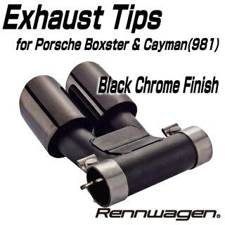 RennwagenExhaustTipsforPorscheBoxster&CaymanBLACK_CHROMEFINISH