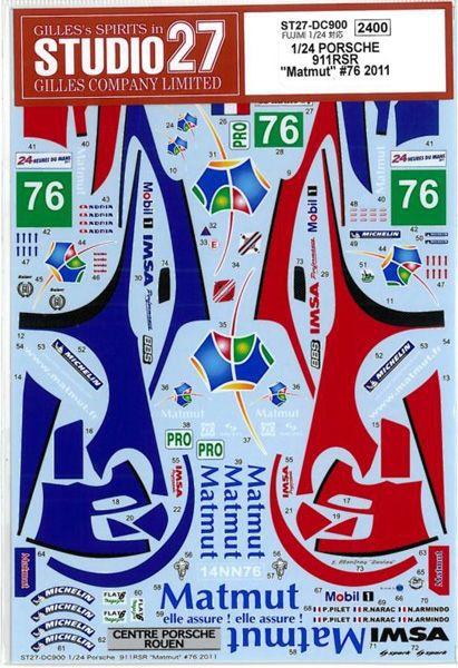 車・バイク, レーシングカー 124 PORSCHE 911 RSR Matmut 76 2011 (F124