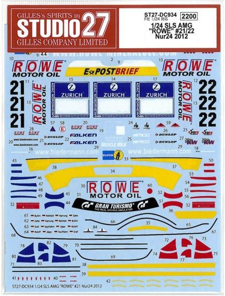 車・バイク, レーシングカー 124 SLS AMG ROWE 2122 Nur24 2012 (F124