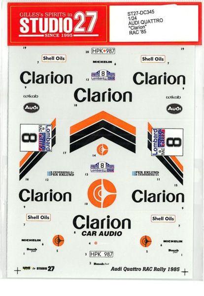 車・バイク, レーシングカー 124 AUDI QUATTRO Clarion RAC85