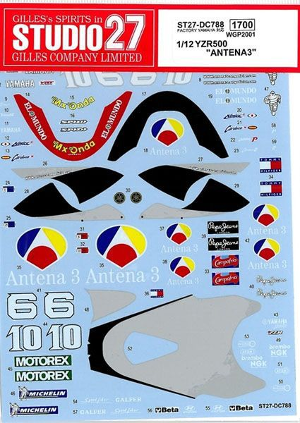 車・バイク, バイク 112 YAMAHA YZR500 ANTENA3 WGP 2001