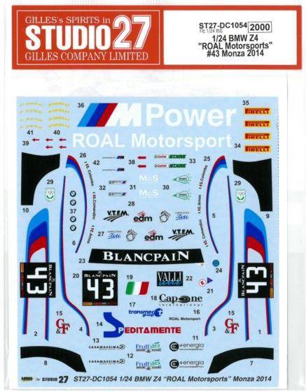 車・バイク, レーシングカー 124 BMW Z4 ROAL Motorsports 43 Monza 2014 (F124