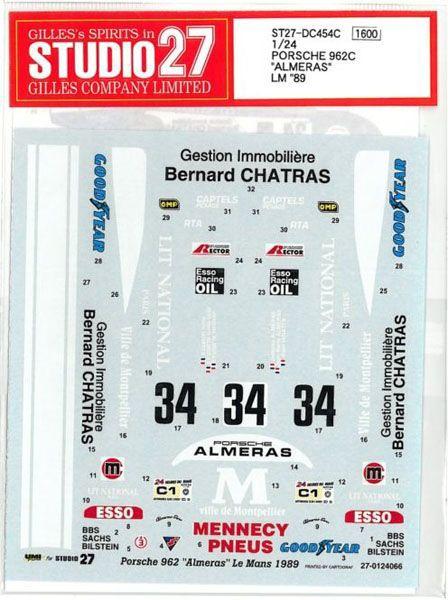 車・バイク, レーシングカー 124 PORSCHE 962C ALMERAS LM89